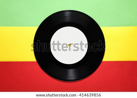 colored vinyl plate on a colored background