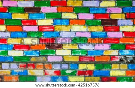 colored wall as background - stock photo