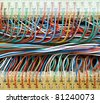 colored wire - stock photo