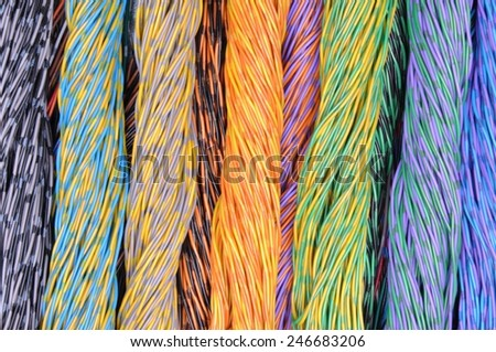 Colored wires - stock photo