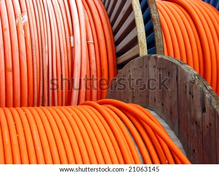 colored wires on spool - stock photo
