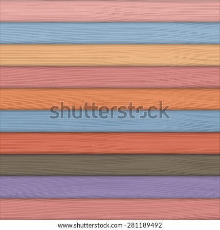 Colored wood background - stock photo