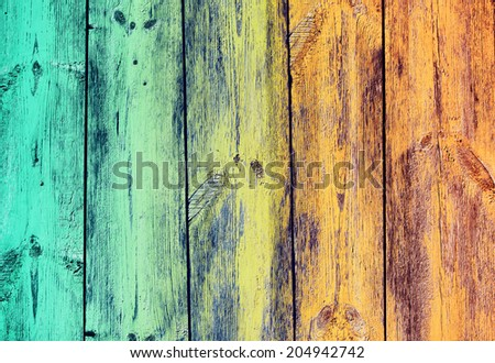 Colored Wood Material Background, Vintage - stock photo