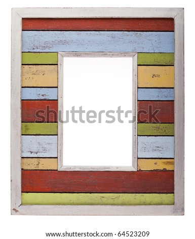 Colorfoull Photo Frame isolated on white background - stock photo