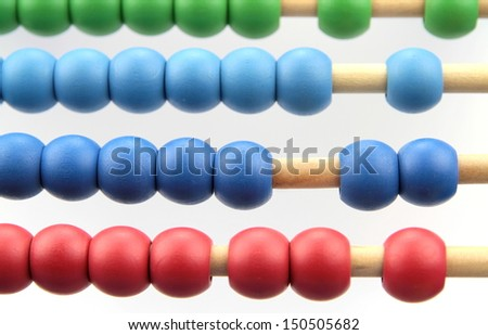 Colorful abacus - stock photo