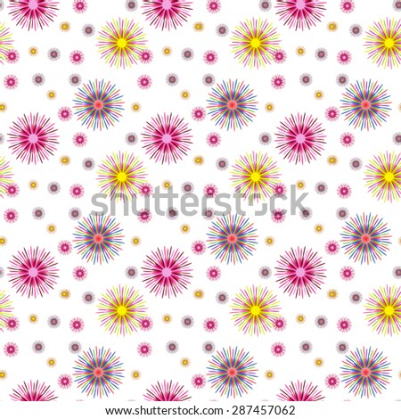 Colorful Abstract Art Psychedelic Background.  Seamless pattern.  Illustration.  - stock photo