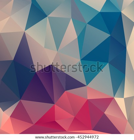 Colorful abstract background. Multicolor polygon backdrop. Geometric triangle background.