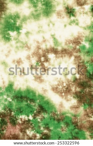 colorful abstract background tie dye technique on linen fabric.   - stock photo