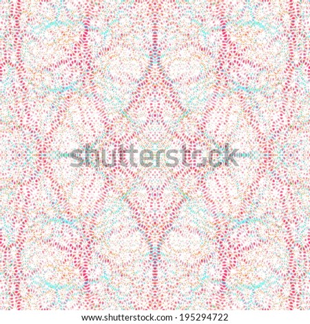 colorful abstract complicated doily pattern  - stock photo