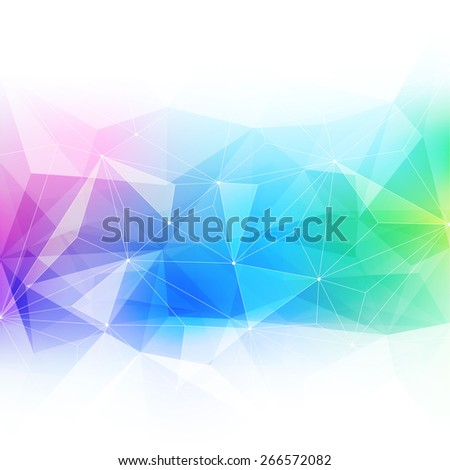 Colorful abstract crystal background. Ice or jewel structure. Pink, green and blue bright colors. - stock photo