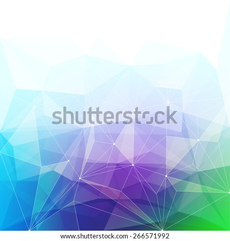 Colorful abstract crystal background. Ice or jewel structure. Purple, green and blue bright colors. - stock photo