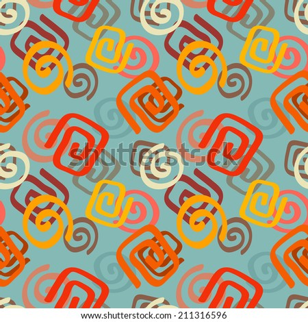 Colorful abstract decorative ethnic seamless pattern. Folk. Geometric background. Geometry. Fabric, textile design. Endless print texture. Wallpaper - raster version   - stock photo