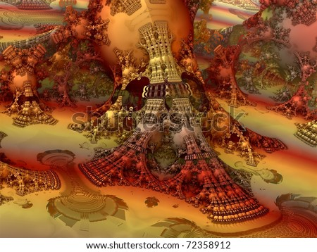 Colorful Abstract Fractal Design - stock photo