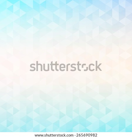 Colorful abstract geometric background with triangular polygons - low poly. Raster version. - stock photo