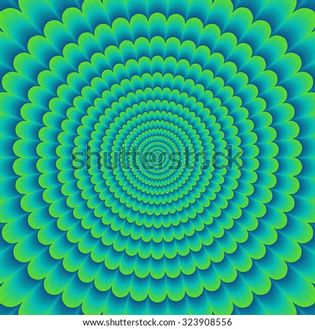 Colorful abstract hypnotic colorful tunnel (optical illusion) - stock photo