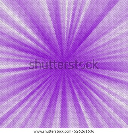 colorful abstract mosaic sun rays background. Decorative tiles texture purple, white