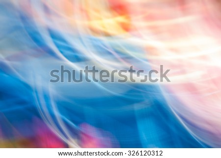 Colorful abstract movement light vivid color blurred background. Creative graphic design and soft multicolored tone color style. - stock photo
