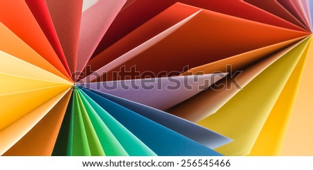 colorful abstract paper background - stock photo