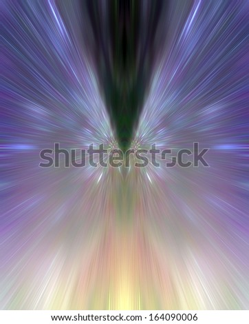 Colorful abstract reflection for background - stock photo