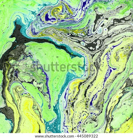 Colorful abstract texture. Marbled paper. Liquid ink and water. Contemporary art. Beautiful grunge background. Unusual artistic technique. - stock photo