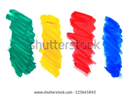 colorful abstract watercolors - stock photo