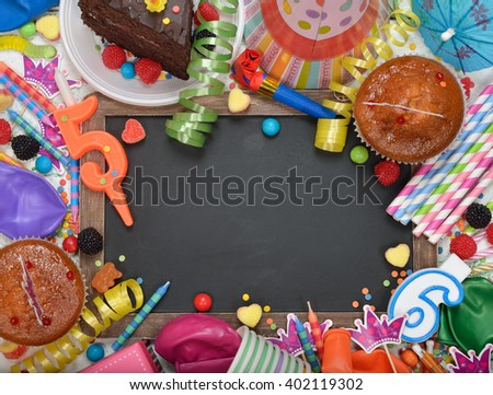 Colorful accessories for children's parties - stock photo