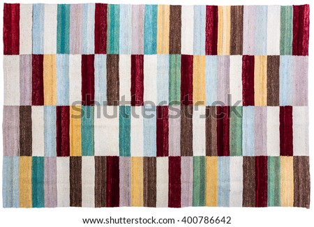 Colorful african peruvian style rug surface close up