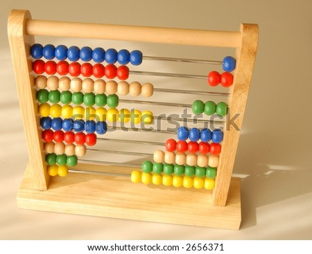 Colorful and all wooden asian abacus calculator