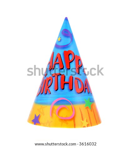 Colorful and decorative birthday party celebration hat - stock photo