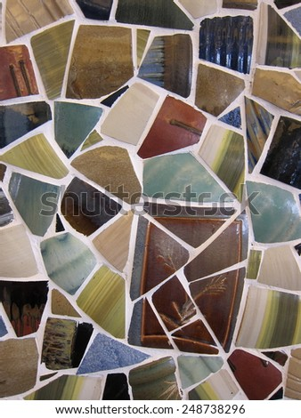 Colorful and decorative ceramic wall  tiles - stock photo