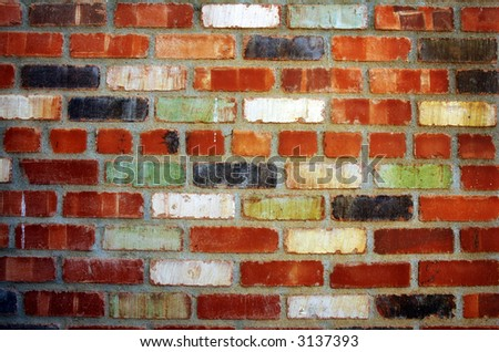 colorful and dramatic brick wall