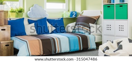 Colorful and nice room for a boy  - stock photo