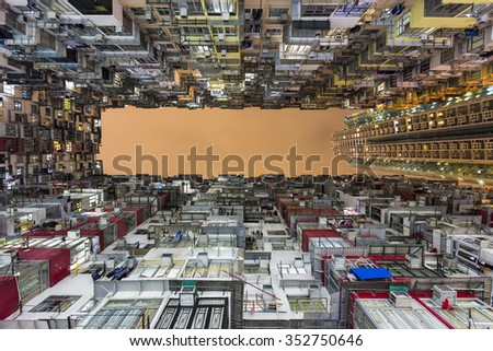 Colorful Apartment Building - stock photo