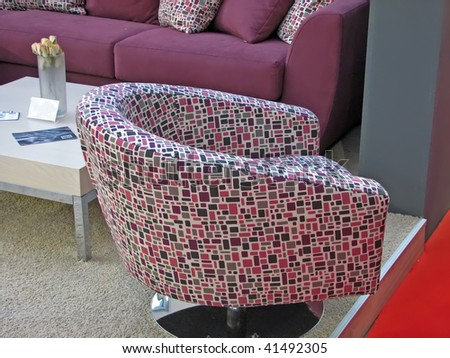 colorful arm chair. modern style armchair.