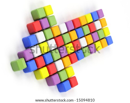 colorful arrow on a white background - stock photo
