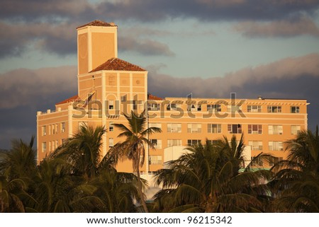 Colorful art deco architecture of Miami Beach, Florida