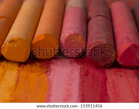 colorful artistic crayons - stock photo