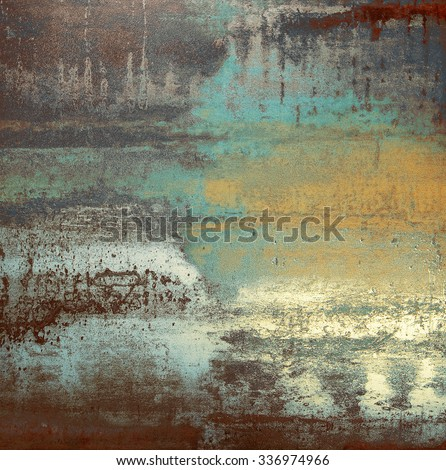 Colorful background (blue, gray, green and yellow slab)