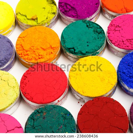 Colorful background. Indian Holi festival colours - stock photo