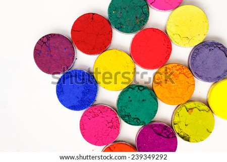 Colorful background - Indian Holi festival colours - stock photo