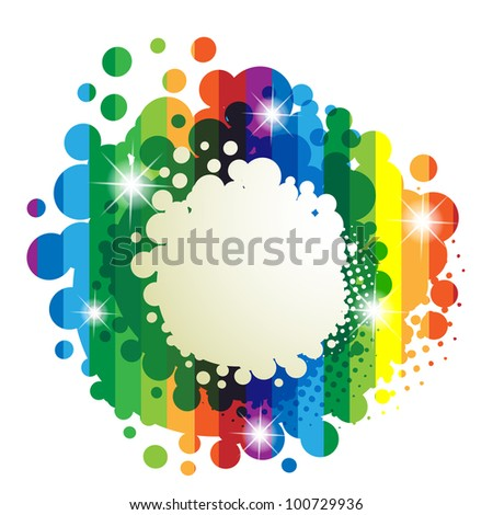 Colorful background isolated on white