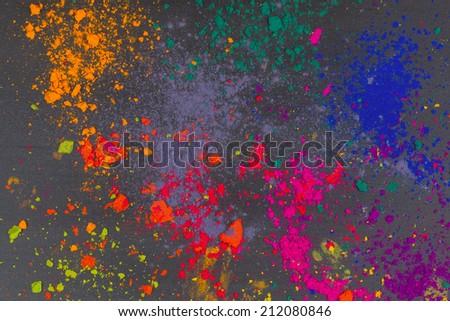 Colorful background made of Indian holi dye - stock photo