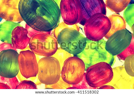 colorful background of bright candy - stock photo