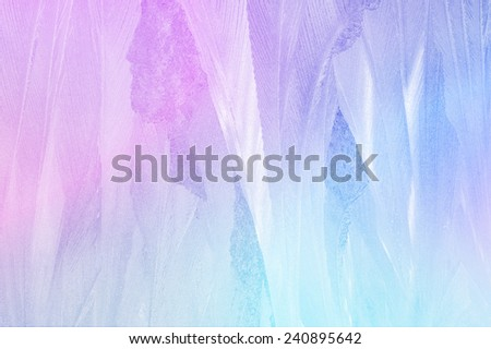 Colorful background of frozen window - stock photo