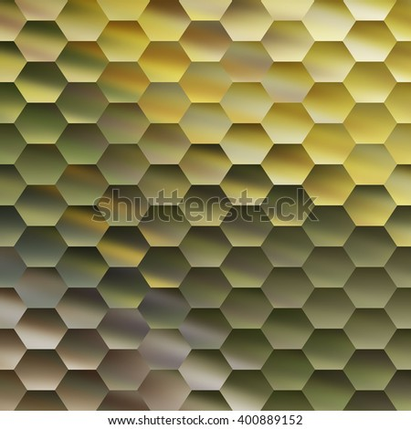 Colorful Background of Hexagons - stock photo