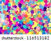 Colorful background of paper confetti squares - stock photo