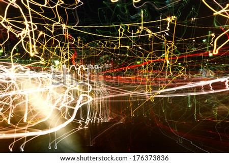 colorful background play of light - stock photo