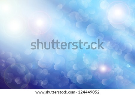 Colorful background with bokeh bubbles