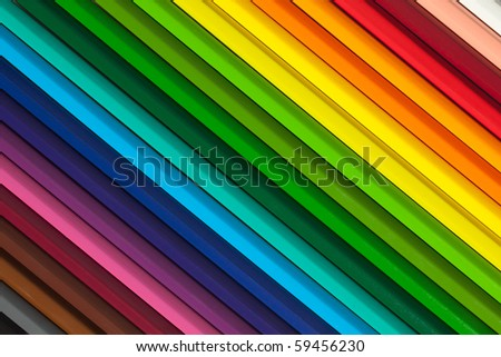 colorful background with crayons - stock photo