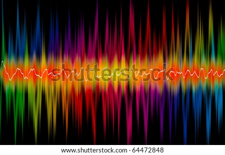 Colorful background with double spectrum - stock photo